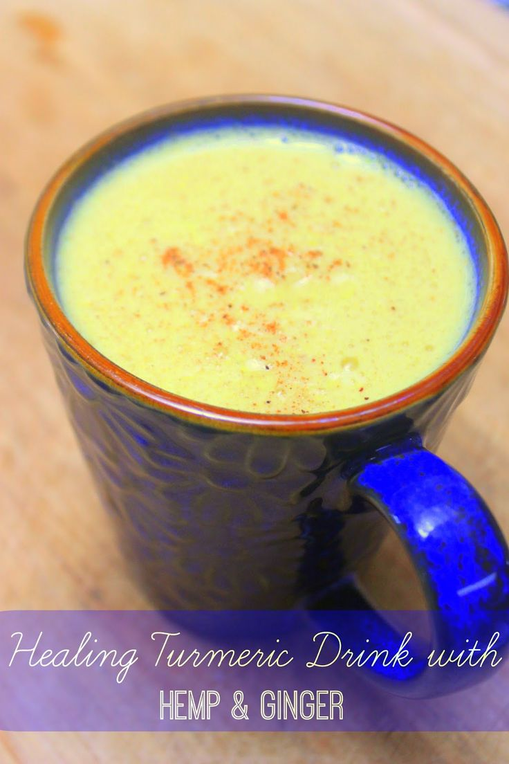 Healing Golden Turmeric Drink with Hemp and Ginger