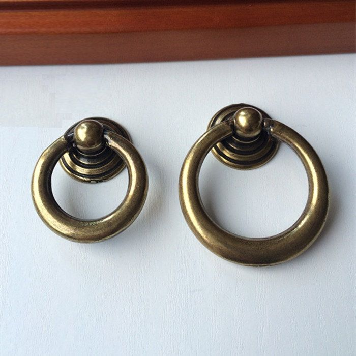 Antique Bronze Dresser Pulls Drawer Pull Handle Knob Drop Ring Pulls Shabby  Chic Vintage Style Cabinet
