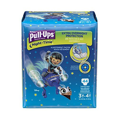 PullUps NightTime Training Pants for Boys 3T4T 44 Count Pack of 2 -- Click image to review more details. (Note:Amazon affiliate link)