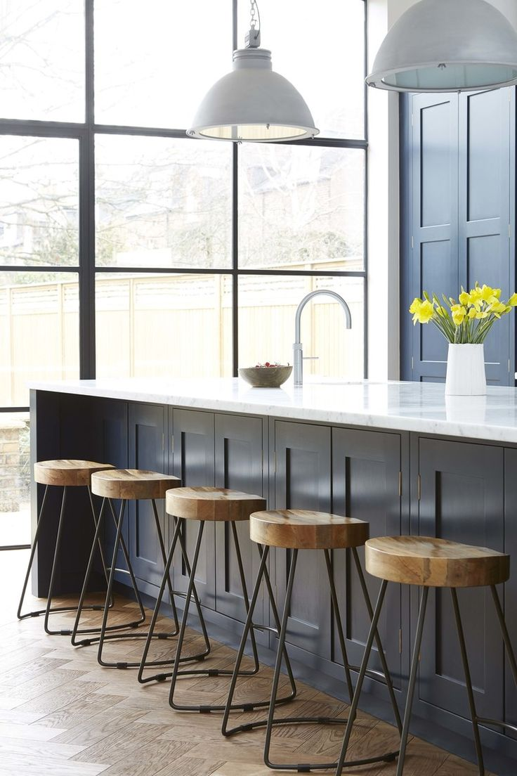 spalsh back, antique mirror, copper handles, industrial pendants, crittal doors, parquet floor - #blakeslondon - Blakes.9.2.1650638.jpg