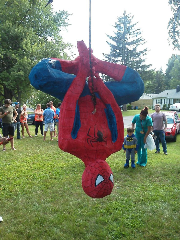 Spiderman pinata.                  www.facebook.com/creativecelebrationsent