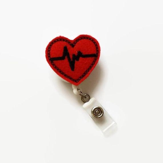 Heartfelt Fundraiser - Heart EKG Badge Reel