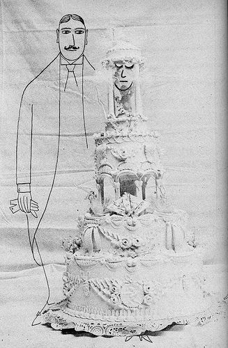 a wedding  Saul Steinberg, one of my favorite illustrators.