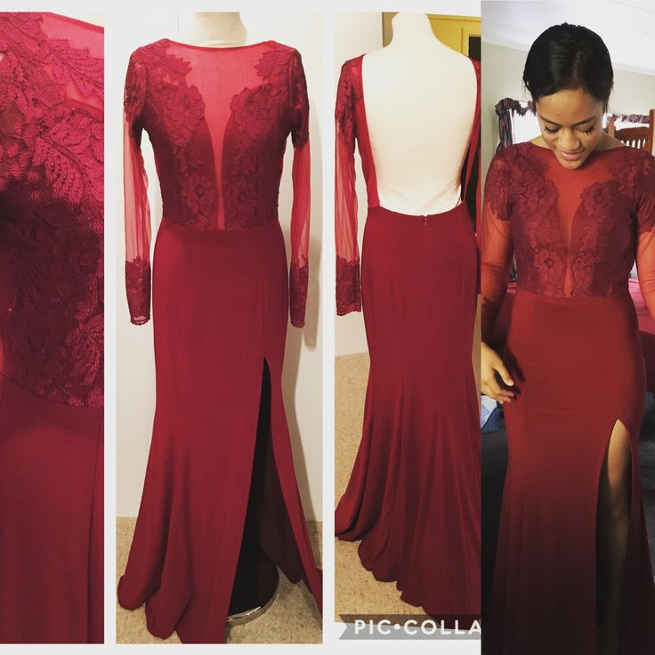 Wine colour dress Ball/Prom/Evening dress made to order