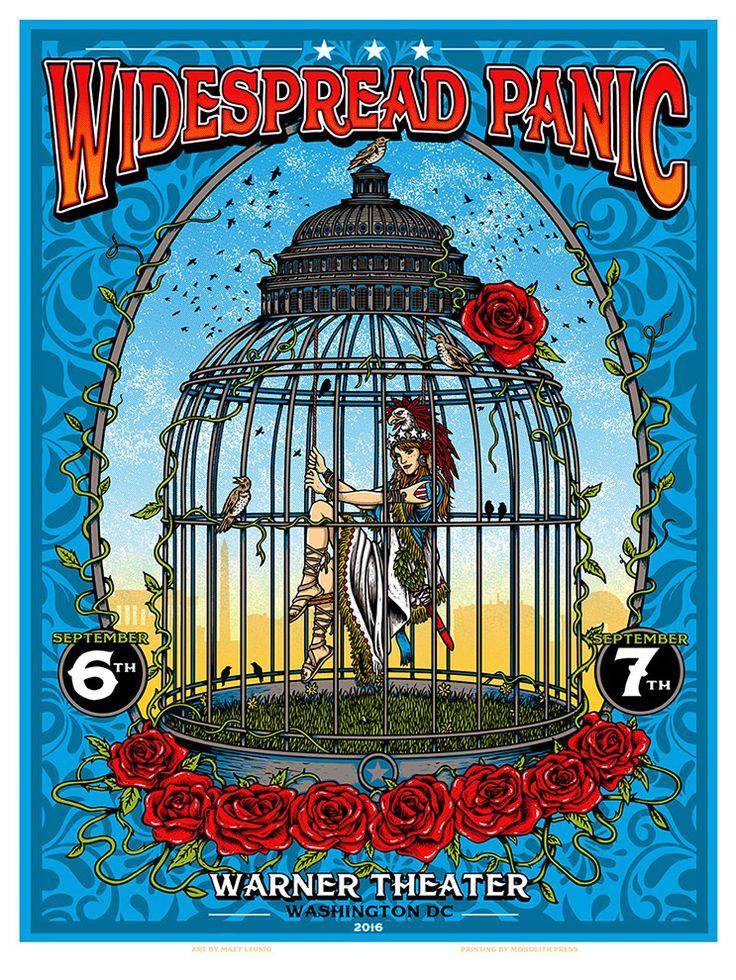 Widespread Panic Washington DC Poster by Matt Leunig
