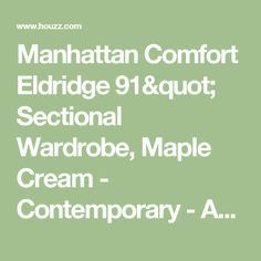 Awesome Manhattan Comfort Eldridge Sectional Wardrobe Maple Cream Contemporary Armoires And Wardrobes
