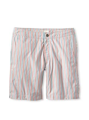 66% OFF Onia Men's Italian Memory Calder Swim Shorts (Red/Green Stripe)