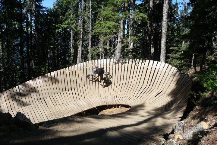 Wallride on Blue Velvet at Whistler mountain bike park. This is not me.. But this was VERY fun!!