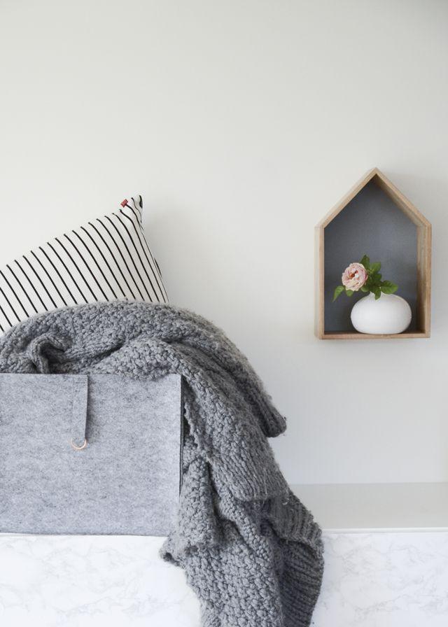 DIY- Sy en egen förvaring i filt med koppardetalj | DIY Mormorsglamour