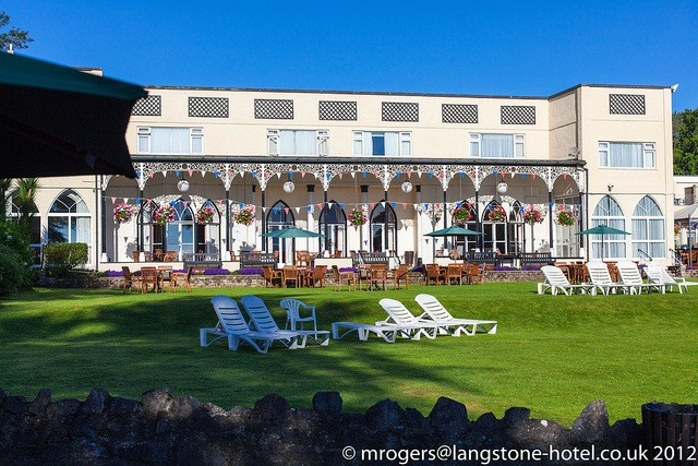 The Lawn and Verandah at Langstone Cliff Hotel by mark@langstone, via Flickr