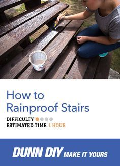 The seasons are changing in front of us, so it's the perfect time for a non-skid, waterproof solution on your stairs. And we're using ground walnut shells—how cool is that!? Learn how to rainproof your stairs in our new Dunn DIY post!
