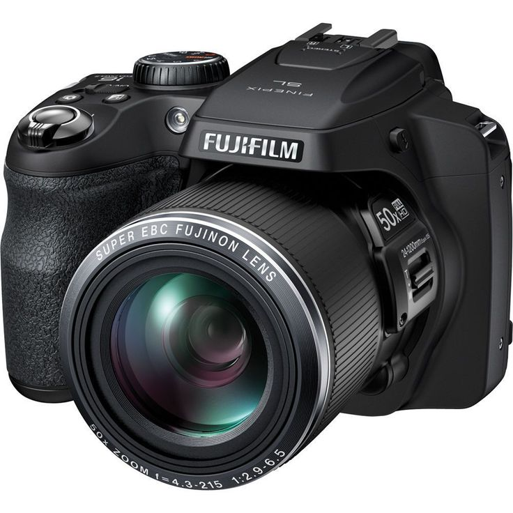 The Fuji FinePix SL1000 digital camera features SR auto, manual exposure modes (P/A/S/M), scene position modes, individual shutter 3D, pro low light mode, dynamic range (HDR), natural light and with f