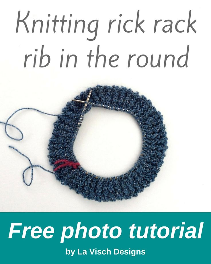 I'm working on a new design involving the rick rack stitch worked in the round. A great reason to make a tutorial on how to work this lovely textured stitch!