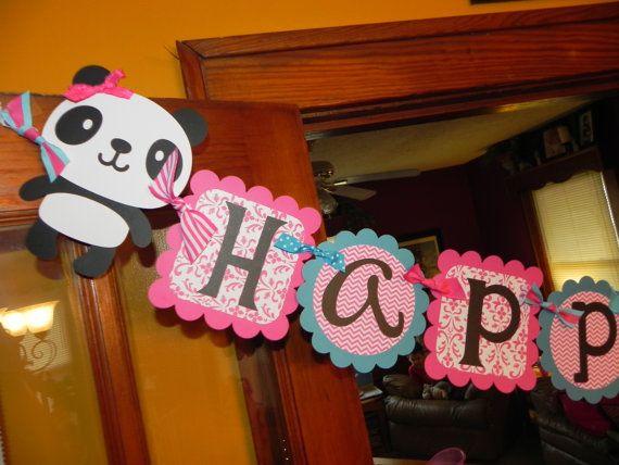 Panda Birthday Banner - Panda Birthday Party on Etsy, $32.00