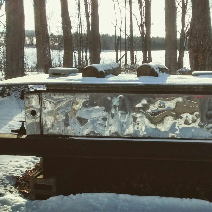 Evaporator for maple syrup!