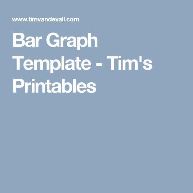 Bar Graph Template - Tim's Printables