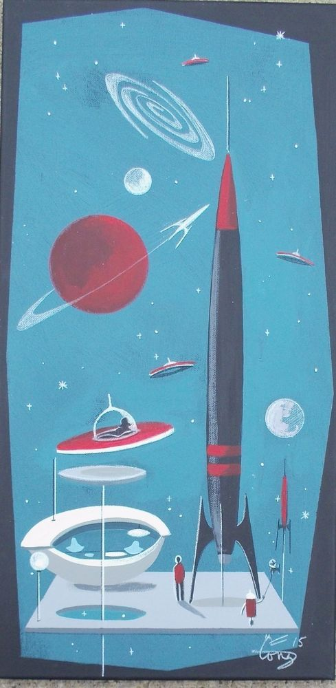 17 best images about el gato gomez on pinterest space for Retro outer space