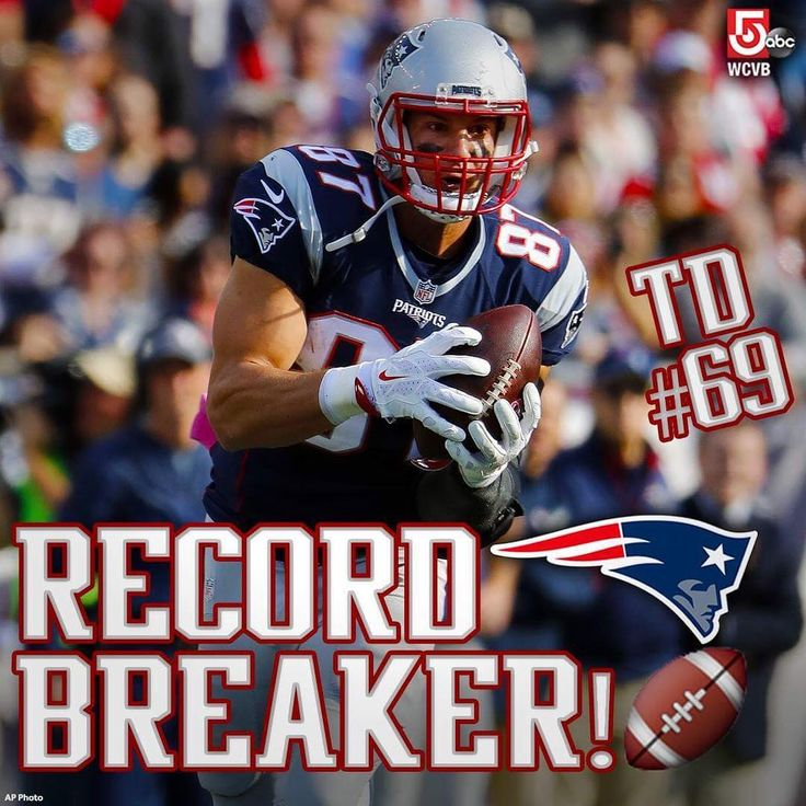 #Gronk best tight end in @patriots history #69 10/30/16