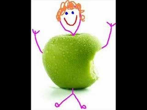 Liedje: Hey, hey, de Appelman, zie je hem hij komt eraan. Hey, hey, de Appelman, zie hoeveel hij dragen kan. Zie hij komt naar onze klas om ons op te beuren, tovert in een habbekras, appels in vele kleuren. refrein Sta eens op en maak je klaar, kom eens dichter bij elkaar, voor dit grote, wonderlijke feest. Kom erbij en waag je kans, doe mee aan de appeldans, met die lieve, sterke Appelman. Rest van de  tekst: http://klas2a.files.wordpress.com/2008/10/liedjestekst-de-appelman.pdf