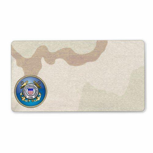 US Coast Guard Emblem Label Shipping label, Us and Coast guard - shipping label