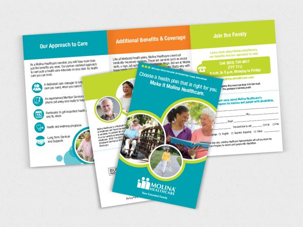 Molina Healthcare Outreach Brochure by Katheryn Sande, via Behance