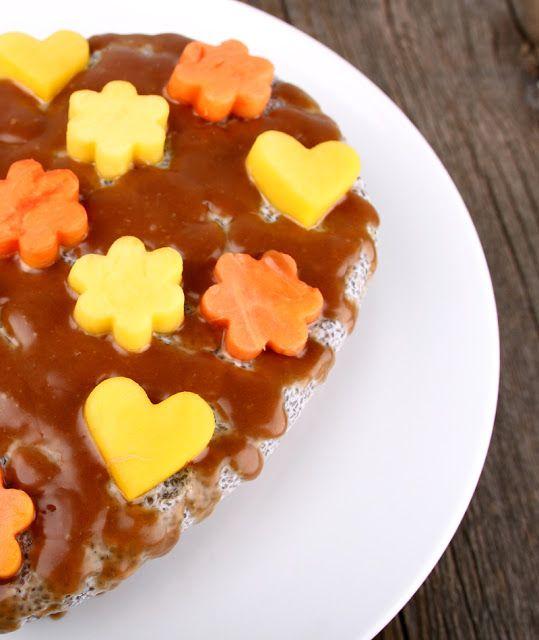 Oppskrift Chiapudding Kake Chiafrø Vegansk Kokosmelk Nøttebunn Dadler
