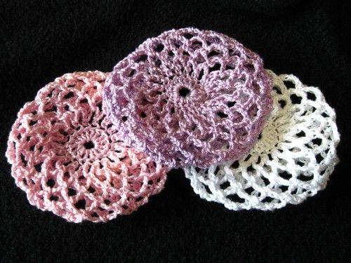 Lavender Lt Purple Crocheted Hair Bun Cover Ballet Snood