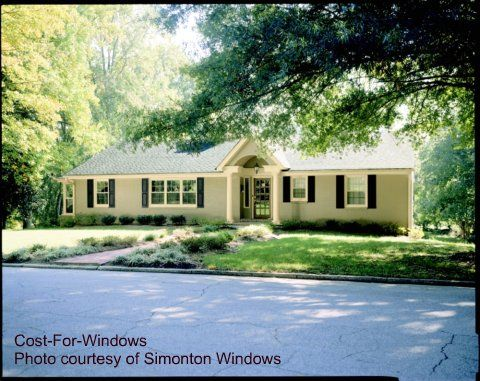 Adding a new roof line over front door portico ideas for Windows for ranch style homes