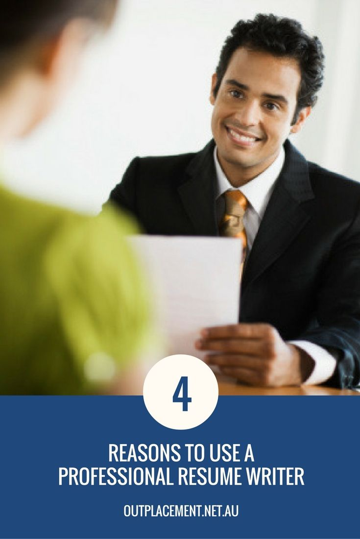 why should you use a professional resume writer to write your cv more job search