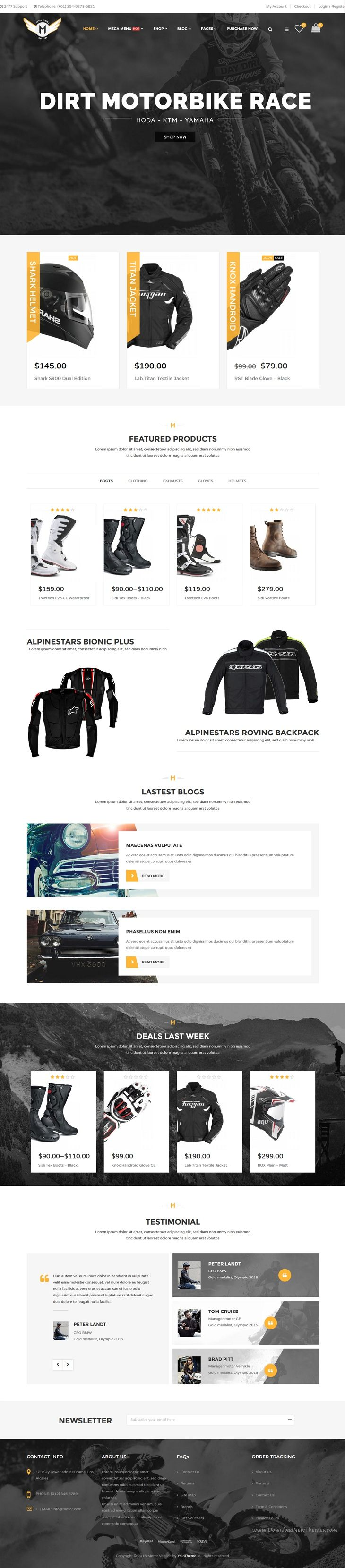 Motor Vehikal is a premium #WordPress Theme for #motorcycle, car or bicycle online #stores website with 10+ Home Pages, 05 product page, 03+ blog page, 09 header styles, 11 footer styles and more Download Now➝ https://themeforest.net/item/motor-vehikal-motorcycle-online-store-wordpress-theme/15895102?ref=Datasata