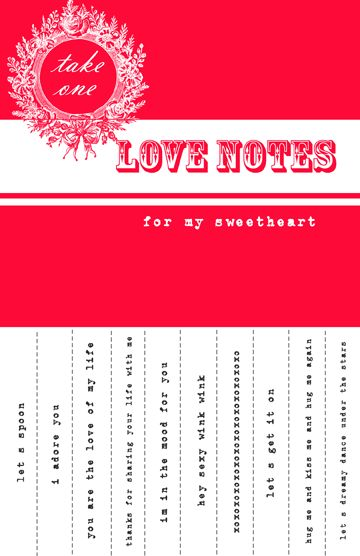 Free Printable Valentine Sweetheart Notes cute idea, must be a member to