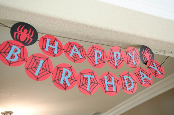 Spiderman Bug Birthday Party by Jaancreations on Etsy