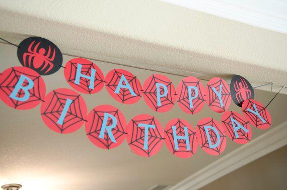 Spiderman Bug  Birthday Party on Etsy, $22.00
