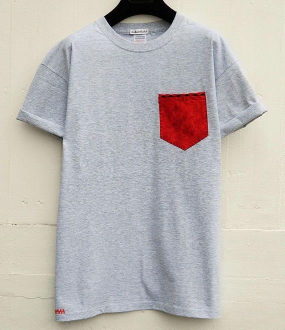 Embroidered Pocket T-Shirt Men's T-Shirt Pocket Tee