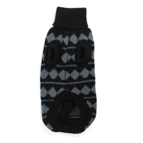 Stretchy-Zig-Printed-Tall-Collar-Pet-Dog-Chihuahua-Apparel-Sweater-Gray-Black-XS