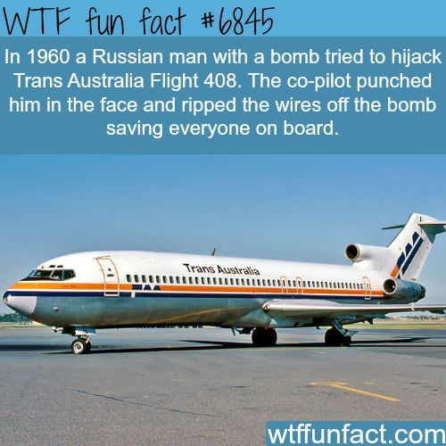 The story behind the failed hijack of Trans Australia Flight 408 - WTF fun fact