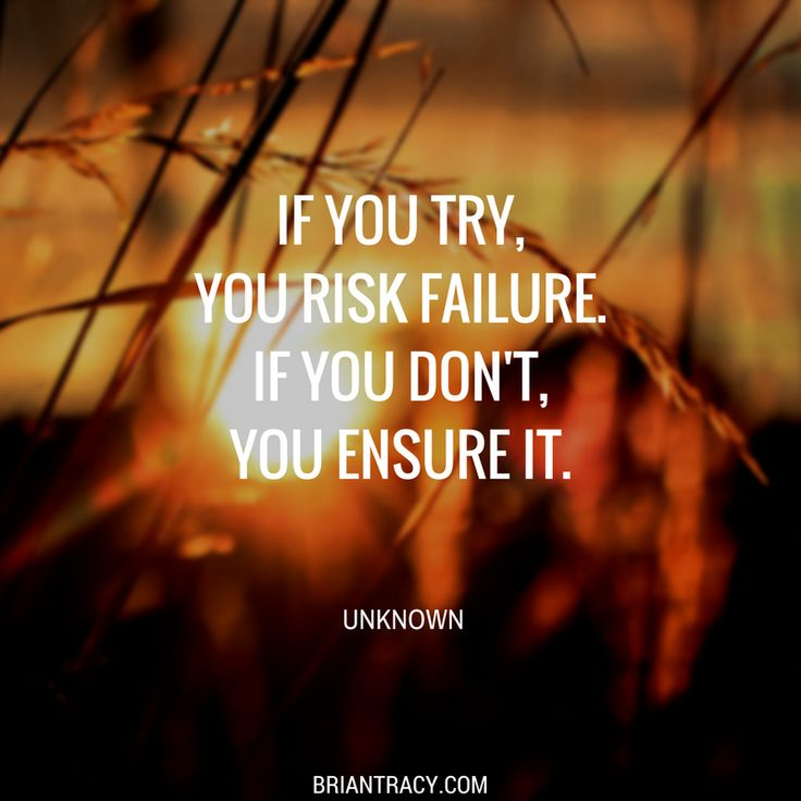 Risk is inherent in attempts at greatness.