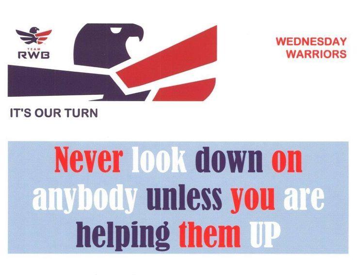 #EagleEthos #WednesdayWarriors #TeamRWB