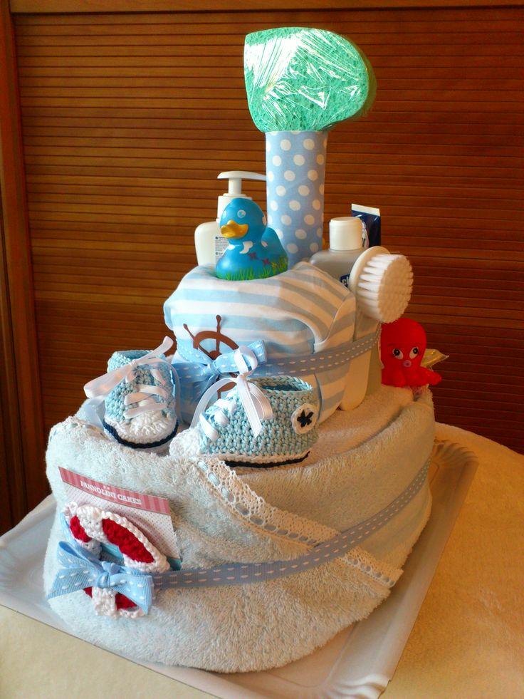 Diaper Boat Cake Instructions
