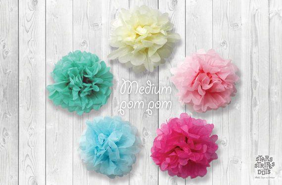 Paper pompom medium size / choose color by StarsStripesAndDots, €1.99