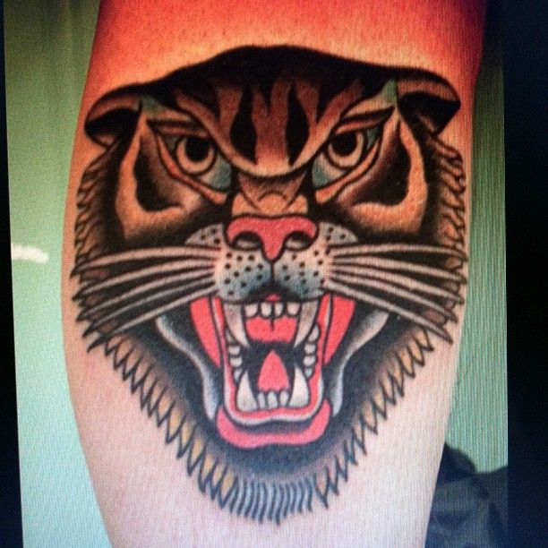 100 best traditional tats images on pinterest american for American traditional tiger tattoo
