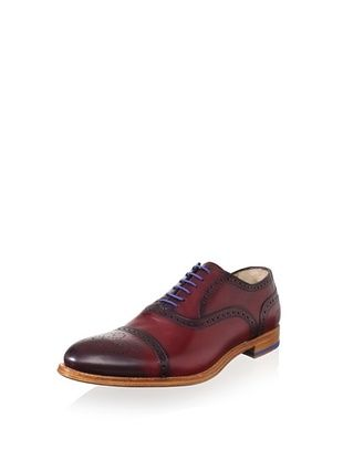 Antonio Maurizi Men's Medallion Cap-Toe Oxford (Bordeaux)