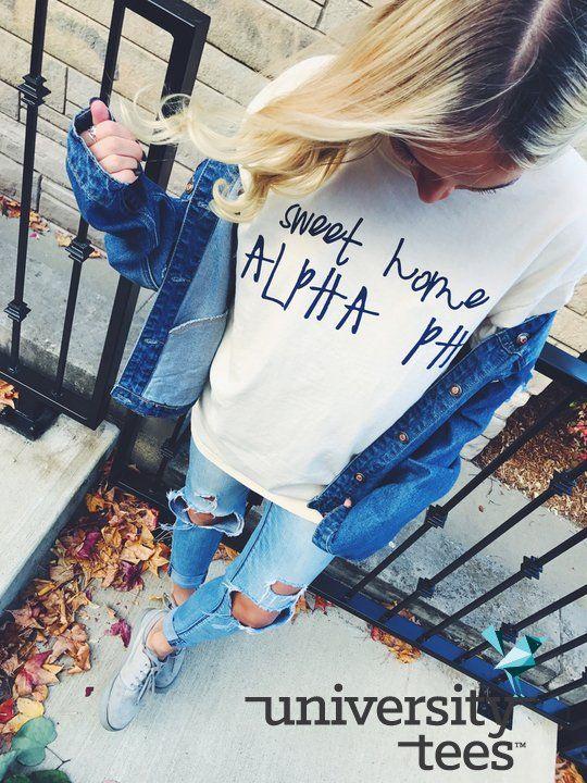 Sweet Home Alpha Phi made by University Tees I apparel designs | custom greek apparel sorority shirt designs I greek t-shirts I t-shirt designs I PR shirts
