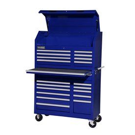 International Tool Storage 5-ft 1-5/16-in x 3-ft 5-1/2-in 20-Drawer Ball-Bearing Steel Tool Cabinet (Blue)