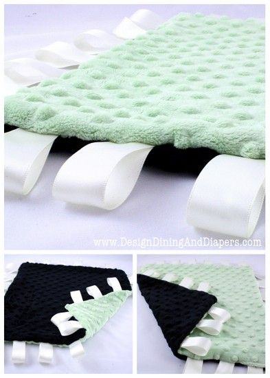 Tag blanket. Great for a baby shower gift (or for my little man)