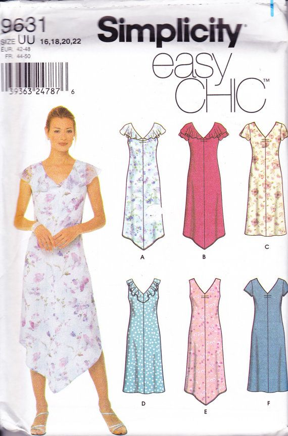 Women's Sewing Pattern Simplicity 9631 Pullover by Sutlerssundries