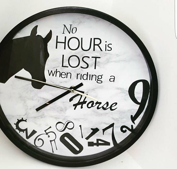 Check out this item in my Etsy shop https://www.etsy.com/au/listing/525394387/horse-clock-large
