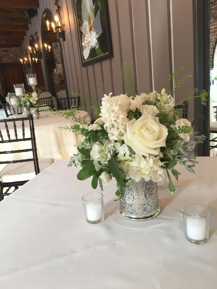 small centerpieces, simple and elegant floral centerpieces, white