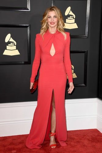 Grammy Red Carpet Faith Hill looking stunning as ever