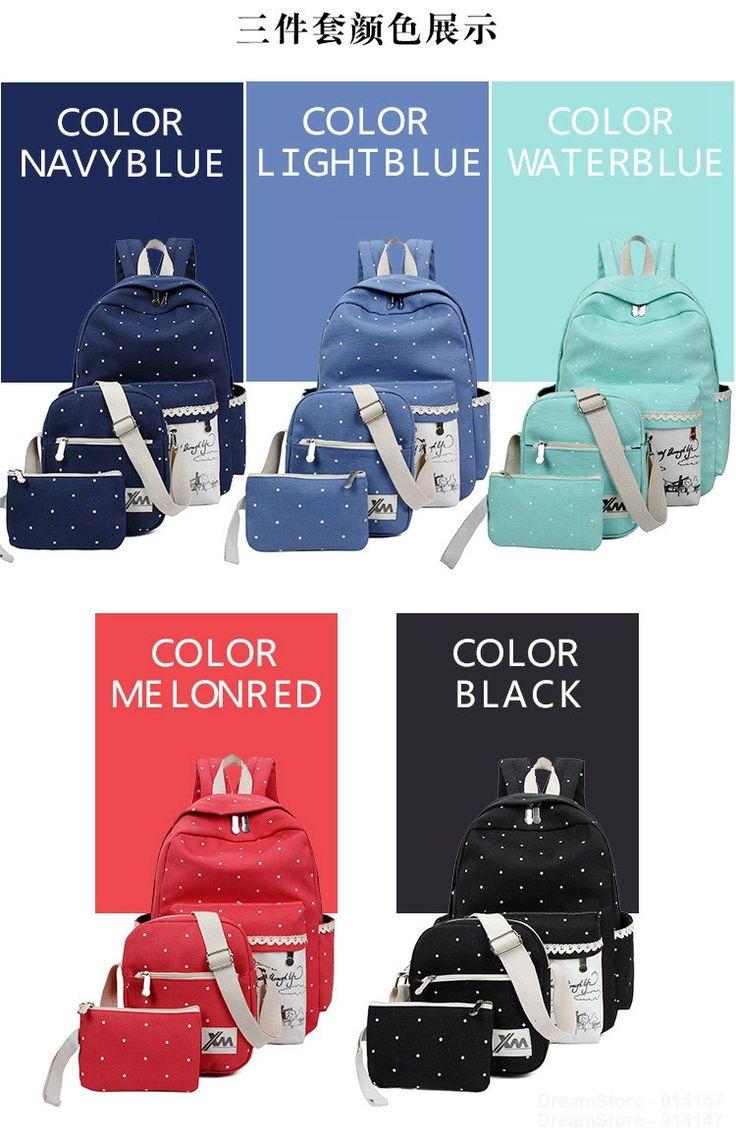 Корейские повседневные женские рюкзаки, наборы холстяных рюкзаков с принтом, школьные сумки рюкзаки для подростков девочек, наплечная сумка купить на AliExpress